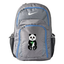 Panda Bear Snacking on Bamboo Nike Backpack