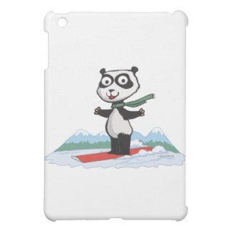 Panda Bear Snowboarder iPad Mini Cases