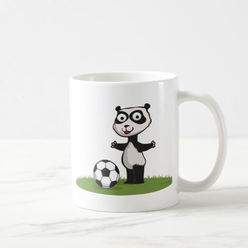 Panda Bear Soccer Classic White Coffee Mug