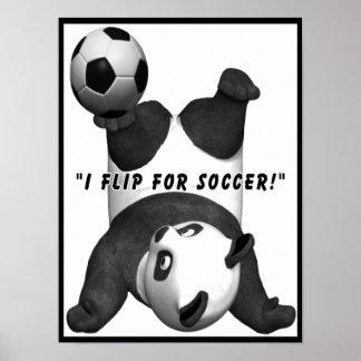 Panda Bear Soccer Poster