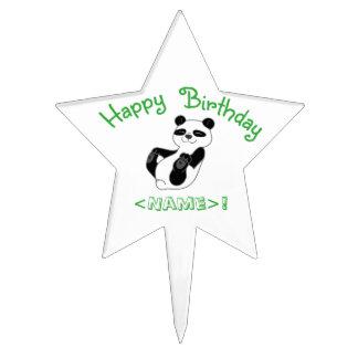 Panda Bear Star Cake Pick