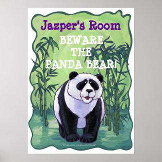 Panda Bear Stationery Poster