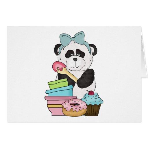 Panda Bear Sweet Treats Card