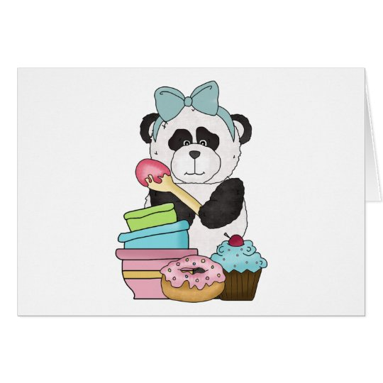 Panda Bear Sweet Treats Card