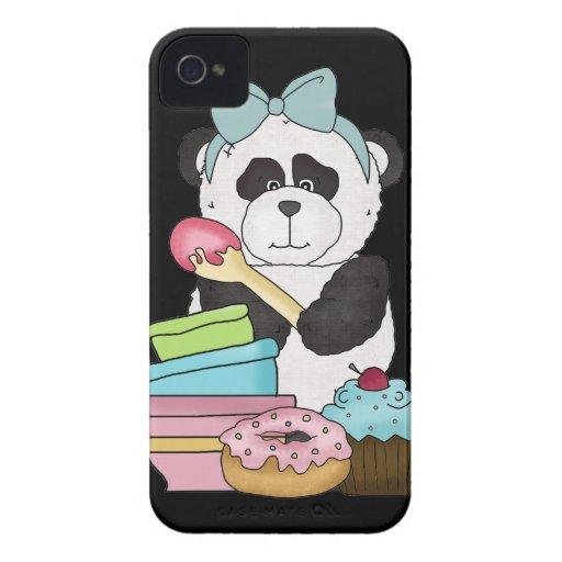 Panda Bear Sweet Treats iPhone 4 Case-Mate Case