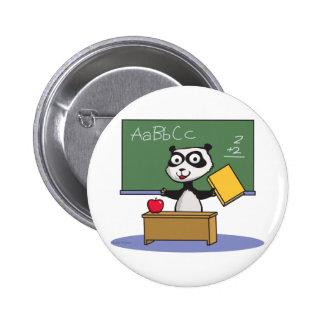 Panda Bear Teacher 2 Inch Round Button