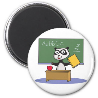 Panda Bear Teacher 2 Inch Round Magnet