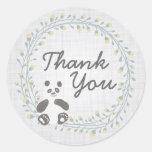 Panda Bear Thank You Stickers