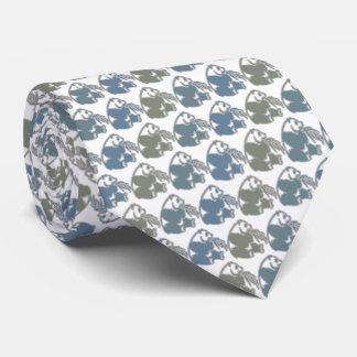 Panda Bear Tie Armani Gray