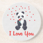 Panda Bear Valentine Coasters