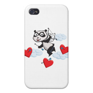 Panda Bear Valentine Cover For iPhone 4