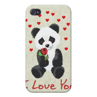Panda Bear Valentine iPhone 4/4S Covers