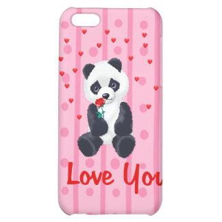 Panda Bear Valentine iPhone 5C Cases