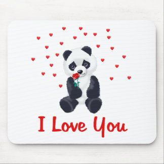 Panda Bear Valentine Mouse Pads