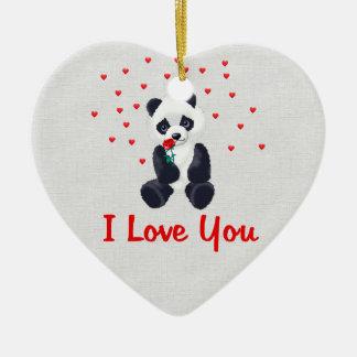 Panda Bear Valentine Ornament