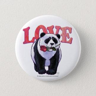 Panda Bear Valentine's Day Pinback Button