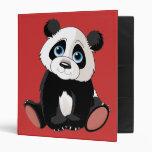 Panda Bear Vinyl Binder
