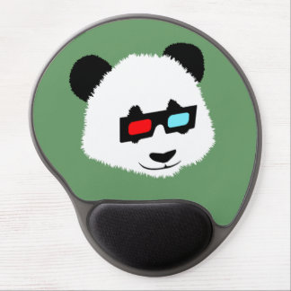 Panda Bear with 3D Glasses Gel Mouse Pad
