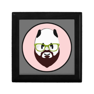 Panda Bear with a Beard Trinket Box