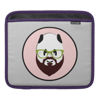 Panda Bear with a Beard Sleeve For iPads