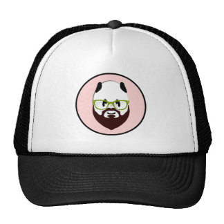 Panda Bear with a Beard Trucker Hat