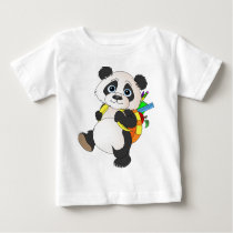 Panda Bear with backpack Baby T-Shirt