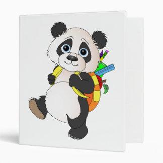 Panda Bear with backpack Vinyl Binder