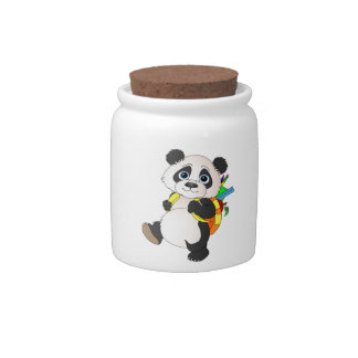 Panda Bear with backpack Candy Dish
