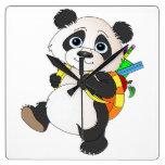 Panda Bear with backpack Clock