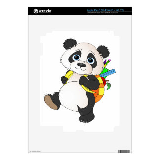 Panda Bear with backpack Decal For iPad 3
