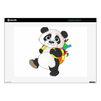 Panda Bear with backpack Decals For Laptops
