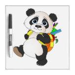 Panda Bear with backpack Dry Erase Whiteboard