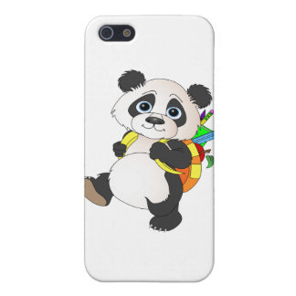 Panda Bear with backpack iPhone SE/5/5s Case