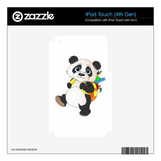 Panda Bear with backpack iPod Touch 4G Skin