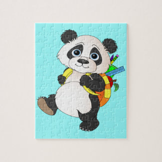 Panda Bear with backpack Jigsaw Puzzle
