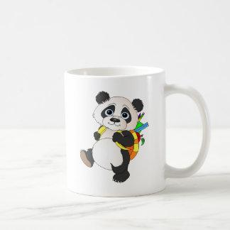 Panda Bear with backpack Classic White Coffee Mug