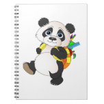 Panda Bear with backpack Note Books