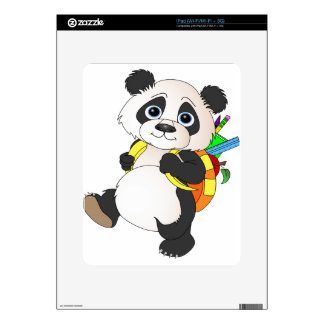 Panda Bear with backpack Decals For The iPad