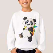 Panda Bear with backpack Sweatshirt