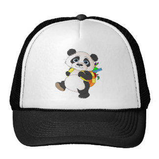 Panda Bear with backpack Trucker Hat