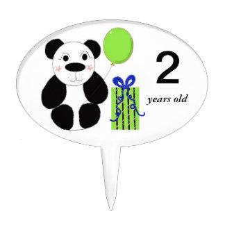 Panda Bear with Balloon Cake Topper