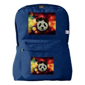 Panda Bear with Bokeh Art Backpack