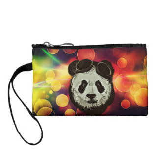 Panda Bear with Bokeh Art Coin Wallet