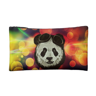 Panda Bear with Bokeh Art Cosmetic Bag