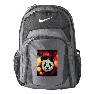 Panda Bear with Bokeh Art Nike Backpack