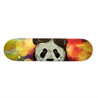 Panda Bear with Bokeh Art Skateboard