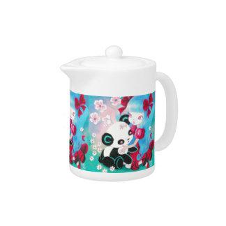 Panda Bear with Kawaii Girl Teapot