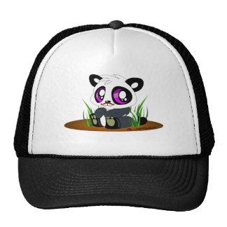 Panda Bear with Mustache Trucker Hats