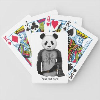 Panda Bear With Viking Hammer Bicycle Playing Cards