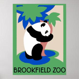 Panda Bear Zoo Poster